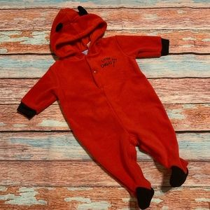 Other - Little Devil Fleece Footed Costume